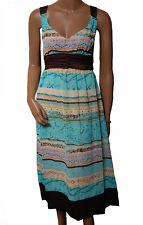 BN - Ladies Blue, Brown & Gold Glitter Evening Dress - UK 8 - 16