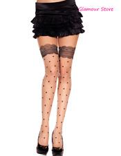 SEXY Collant Pelle effetto Calze Cuori Pizzo Intimo Lingerie Fashion GLAMOUR