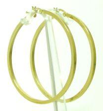Eckige Damen Gold Creolen Ohrringe 585  14 Kt. Gelbgold Neu 46 mm Durchmesser