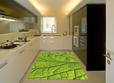 3D feuilles vertes 85 Cuisine Tapis Sol Murales Mur Imprimer mur AJ papier peint UK Kyra