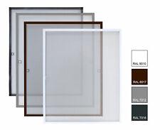 Alu-Rahmen Fliegengitter Klemmfix Fenstergitter Mückengitter Insektenschutz NEU