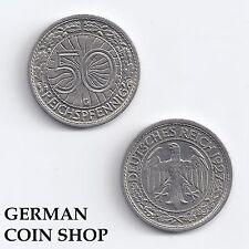 50 Reichspfennig 1927 - 1938 A D E F G J - bitte auswählen - Deutsches Reich