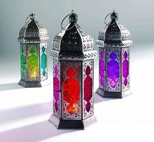 Large Tonal Glass Moroccan Lanterns Tea Light Tealight Holder Home Decoration