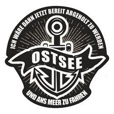 Wetterfester Aufkleber OSTSEE 9 cm oder 41 cm Rostock Warnemünde Rügen Usedom