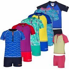 Regatta Wader Kids UV Swim Set Girls Boys Rash Vest Shorts UV Protection