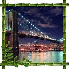 Sticker autocollant Cadre bambou Pont de Brooklyn7117