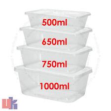 Baignoires de conteneurs en plastique transparent de qualité avec couvercles mic...