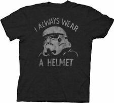 Junk Food Star Wars Stormtrooper I Always Wear a Helmet Charcoal Black Adult