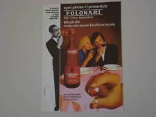 advertising Pubblicità 1972 LAMBRUSCO FOLONARI