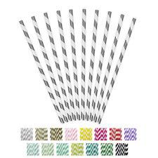 Papier Strohhalme Streifen 19,5 cm 10 Stk. Trinkröhrchen Trinkhalme Party
