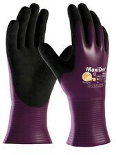 ATG 56-426 MaxiDry Unisex Work Gloves Non Slip Nitrile Full Coating Long Cuffs