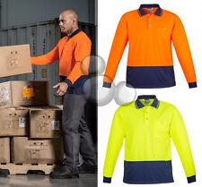 Hi-Vis Long Sleeve Polo Shirt Size XXS XS S M L XL 2XL 3XL 4X 5XL 7XL Safety New