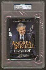 Andrea Bocelli signed Live In Central Park PSA Slabbed