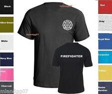 Firefighter  T-Shirt Fire Department  - Two Sides Print Shirt SZ S-5XL