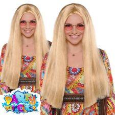 Ladies Hippy Sunshine Day Wig Woodstock 1960s 70s Accessory Fancy Dress Costume