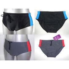 Men Swim Brief Trunks Bathing Swimmer Suit Swimsuit Swimwear Black Gray S to 3XL