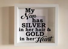 IKEA RIBBA Vinyl Decal Sticker My Nan has silver in her hair