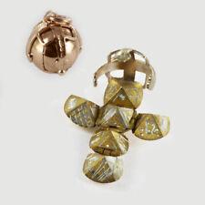 9ct Gelb Gold & Silber Freimaurer Handgefertigt Kugel Schlüsselanhänger Ball