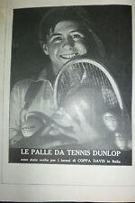 ADVERTISING  pubblicita'  PALLE DA TENNIS DUNLOP  - 1929