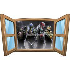 Sticker enfant fenêtre Tortue Ninja réf 1039 1039