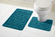 Toilet Two Piece Bath Mat & Pedestal Set, Non Slip Bathroom Set Non Slip Back