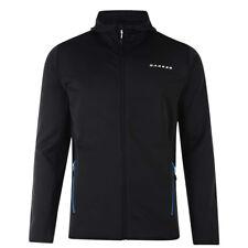 Dare2b Mens Fleece Top Warm Zip Ratify Lightweight Stretch Running Hoodie Black