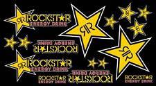 Rockstar Energy Drink Accessories Sticker Graphics Kit Sheet Set Motocross MotoX