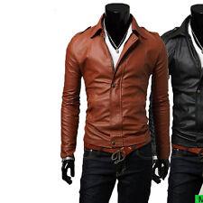 Giacca Giubbotto in Pelle Uomo Men Leather Jacket Veste Blouson Homme Cuir N14c