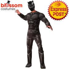 CA201 Black Panther Civil War Superhero Hero Avengers Fancy Dress Mens Costume