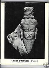 CHEFS D'OEUVRE D'ASIE ART INDE CHINE JAPON 1969 ILLUS.