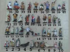 pastore terracotta 4 CM pastori a SCELTA MARIA GESU ASINo RE  crib shepherds