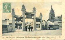 MARSEILLE EXPO COLONIALE 1906 120 LL indochine entrée du village annamite