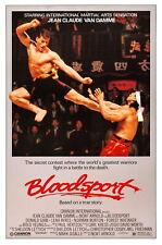 61810 Bloodsport Blood Sport Van Damme Wall Print Poster AU