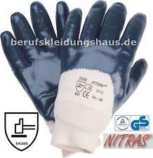 Nitras 15 Paar Arbeitshandschuhe Handschuhe Nitril blau