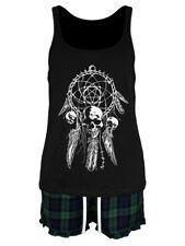 Unorthodox Gothic Dreamcatcher Women's Black Short Pyjama Set