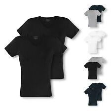 2er, 4er Pack EMPORIO ARMANI Herren T-Shirts kurzarm V-Neck Pure Cotton Farbwahl