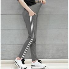 Fashion Stripe Adjustable Maternity Leggings Maternity Pants Pregnant Trousers