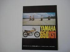 advertising Pubblicità 1971 MOTO YAMAHA 650 XS 1 XS1