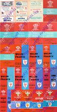 Gales V Francia 1948-1988 programas de rugby *** *** Más barato en eBay