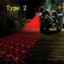 Laser Fog Stop Lights Motorcycle LED Tail light Parking Anti-collision Anti-fog