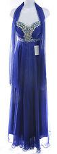 Meier Women's Rhinestones Gorgeous Padded Chiffon Ball Gown Dress Royal Blue, 6