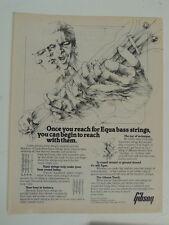 vintage magazine advert 1982 GIBSON equa bass strings