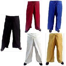 Thai Fisherman's Wrap Look Pants Trousers Wide Leg Cotton Indian Harem Pants
