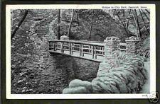 Decorah Iowa 1920/30s Lovers Lane Stone Creek Bridge IA