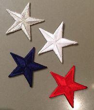 Patch stella softair airsoft militare ricamata toppa termoadesiva gradi 4,5cm