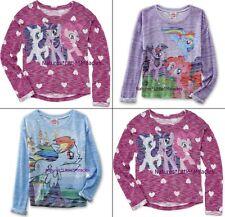 Girls My Little Pony Top Shirt Pinkie Pie Twilight Sparkle Rainbow Dash S-XL NEW