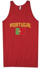 Threadrock Men's Portugal Flag Tank Top Portuguese Lisbon Soccer