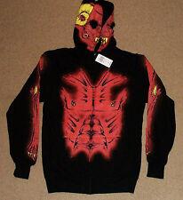 RUDE Devil Costume Full Face Zip Hoodie NWT