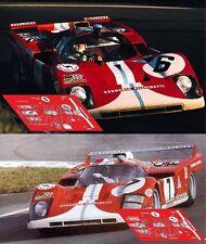 Calcas Ferrari 512 M Le Mans 1971 6 7 Filipinetti 1:32 1:43 1:24 1:18 slot