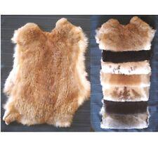 Rabbit skin pelt natural,white,Gray,tan. Soft genuine pelt/hide (12in X 16in)
